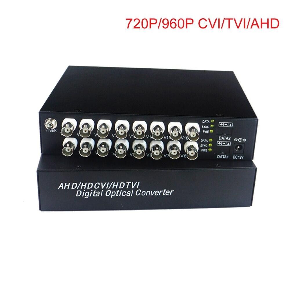 HD Vidéo Fiber Optique Médias Convertisseurs Émetteur et Récepteur pour CCTV HD 960 p 720 p AHD CVI TVI HD caméras