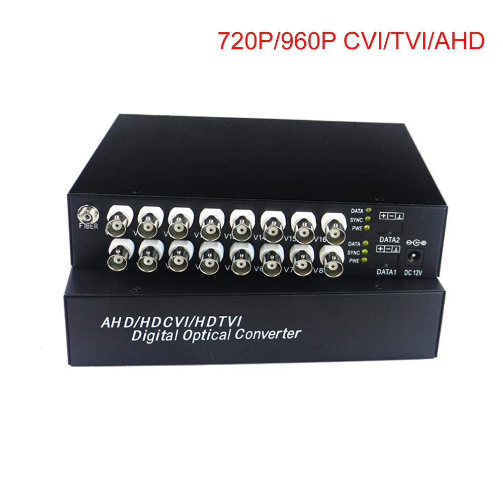 HD Video Fibra Ottica Media Converter Trasmettitore e Ricevitore per CCTV HD 960 p 720 p AHD TVI CVI HD telecamere