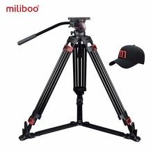 Miliboo MTT609B Profesyonel Karbon Fiber Tripod Hidrolik Topu Kafa Dijital Kamera/Kamera/DSLR Standı Büyük Uzatma