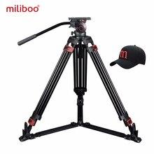 Miliboo Trípode De Fibra De Carbono profesional MTT609B con cabezal de bola hidráulico, videocámara Digital/cámara/DSLR, soporte Grand Extensio