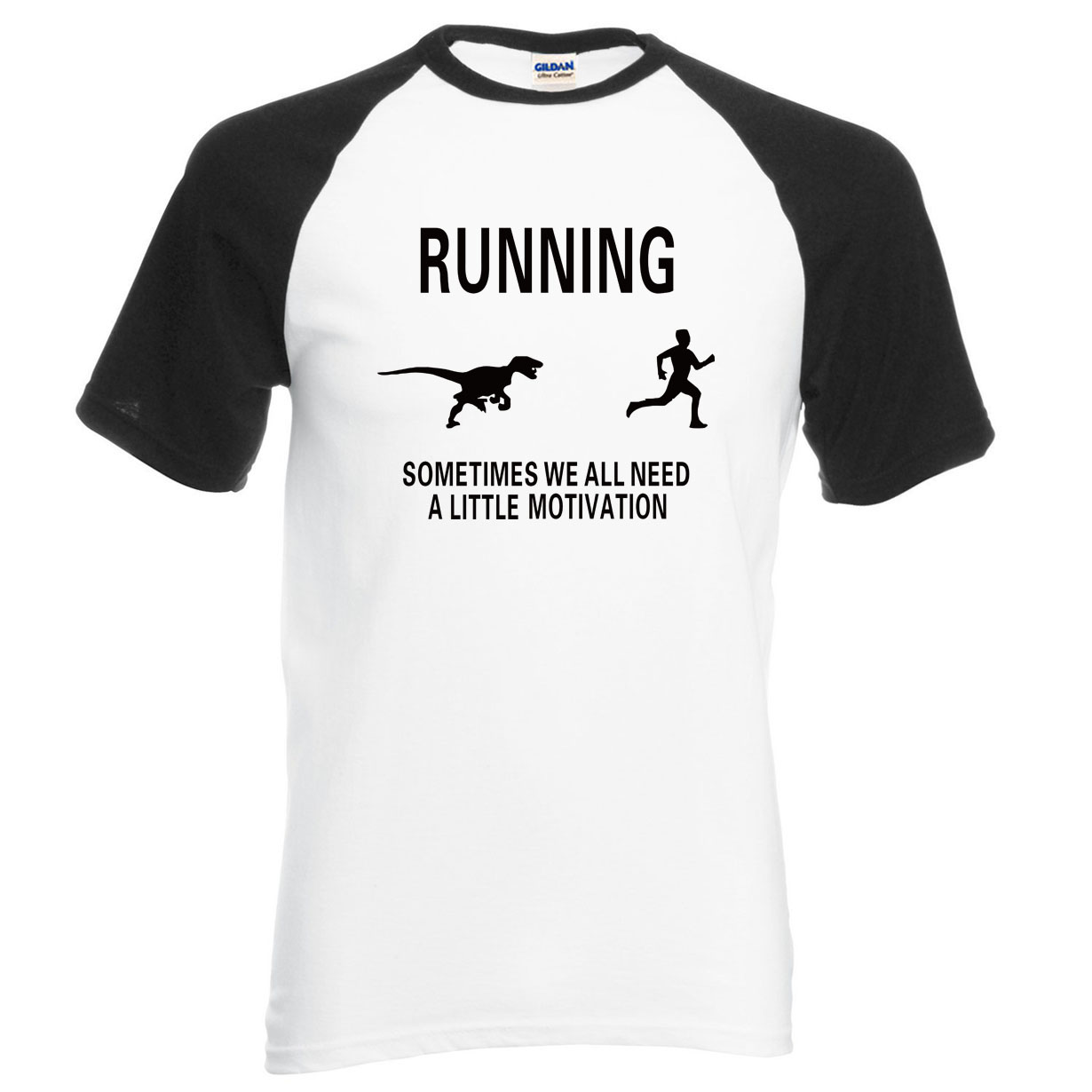 New Arrival Motivate Runners crossfit men t shirt 2018 summer 100% cotton raglan men t shirts fitness brand clothing