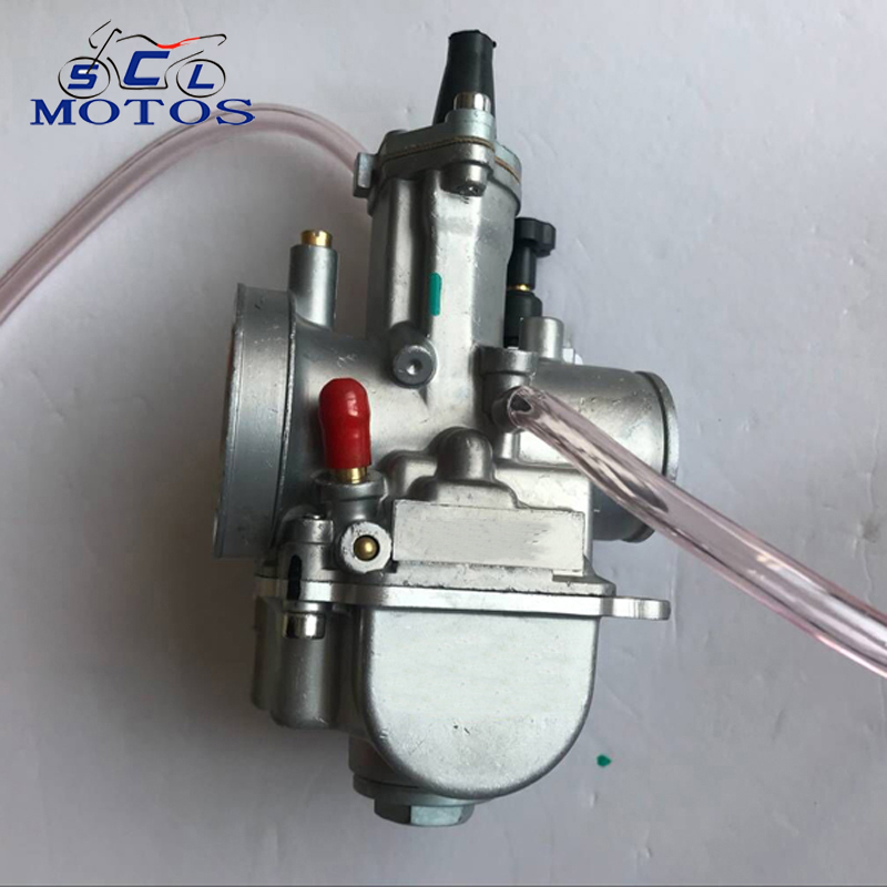 Sclmotos 28 30 32 34 mm KEIHIN PWK Carburetor Motorcycle Carburador With Power Jet Fit On