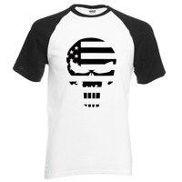 American Sniper Punisher Skull Navy Seal Team Legend Printed Hip Hop Men T Shirt 2016 New