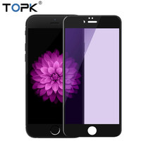 For IPhone 6 Screen Protector TOPK HD Clear Anti Blue Light 9H Hardness Full Coverage Tempered