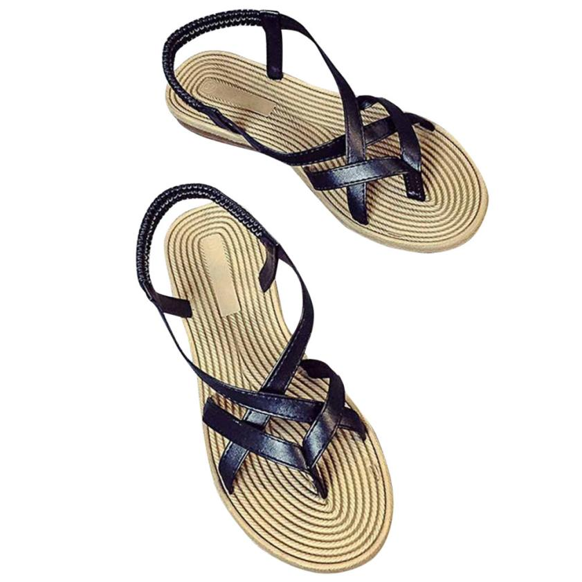 SAGACE shoes woman 2018 Women's Bandage Bohemian Flat Sandals Casual Sandals Toe Outdoor Shoes Apr 5