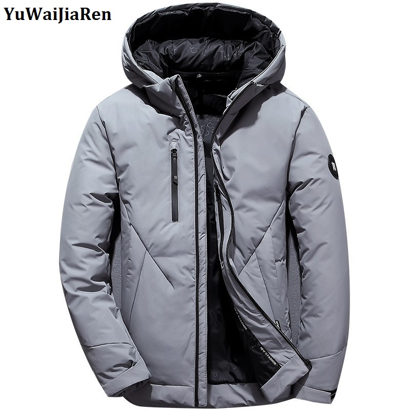 YuWaiJiaRen Winter Parks Men Jacket Coat Outerwear Fashion Hooded Padded Thick Warm Male Jackts Hood Casual Men's Clothing new men winter jacket fashion brand clothing cotton padded down parka male thick warm comfortable outerwear coat hood detachable