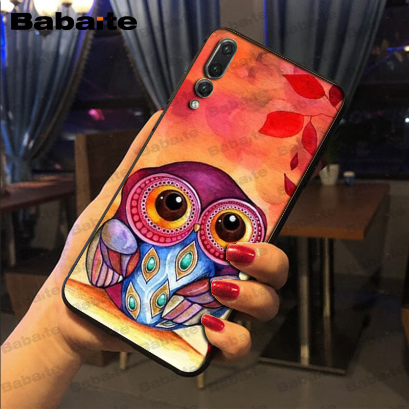 colorful the best one of owl TPU Soft Silicone Phone Case For huawei mate 10 lite p20 p9lite nova 3i honor 8x mate20 pro funda in Half wrapped Cases from Cellphones Telecommunications
