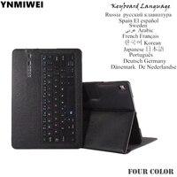 Caso Tablet Para o iPad 10.5 Pro Tablet Destacável Bluetooth Teclado Caso De Couro Do Plutônio caso teclado Multilingue rússia espanha