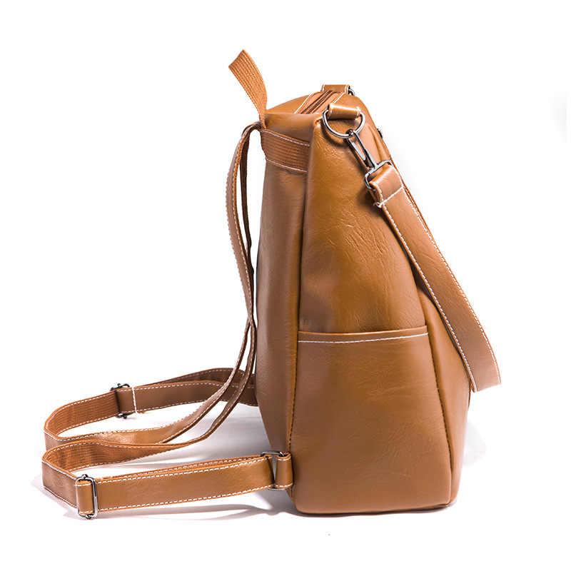 2ca140e6f4d 2019 Fashion Women Backpack High Quality Youth PU Leather Backpacks for  Teenage Girls Female School Shoulder Bag Bagpack Mochila