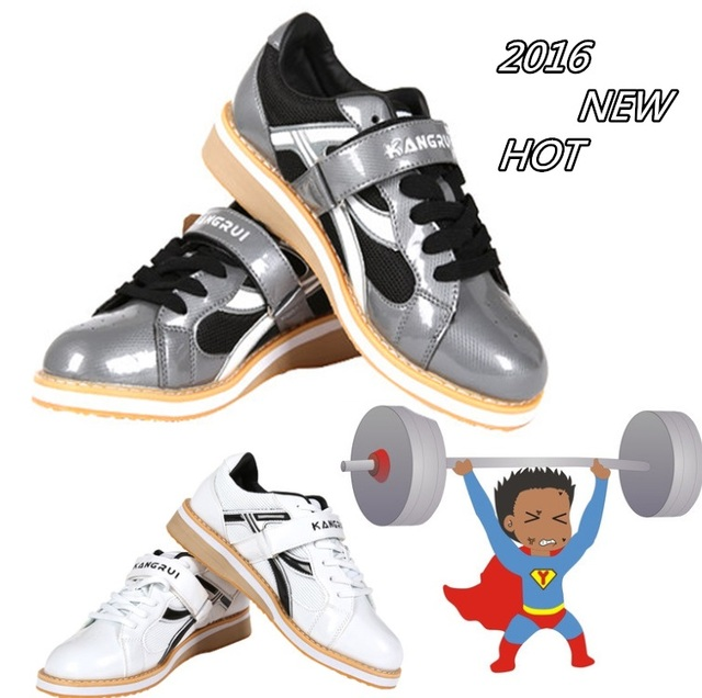 Good quality powerlifting shoes Grey men s GYM Fitness Weight lifting shoes  Weightlifting cross Training sneaker sport equipment f8be91f363a7