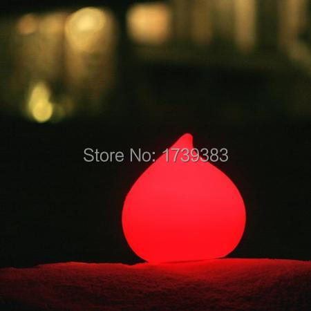 Free shipping All Weather Remote control Dew LED round water drop glowing Light Dew Waterproof colorful LED Indoor Outdoor Lamp free shipping remote control colorful modern minimalist led pyramid light of decoration led night lamp for christmas gifts
