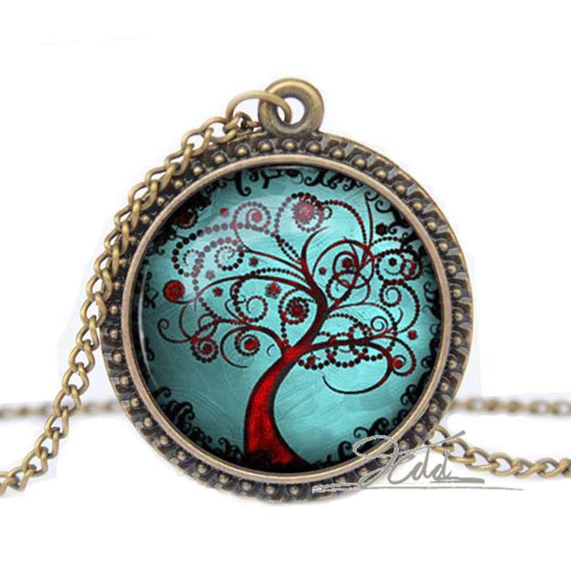 Tree Of Life Necklace Pendant Silver Link Chain Gifts For