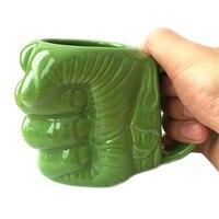 الإبداعي الأخضر هالك القبضة كأس emonticon poo شكل الرموز التعبيرية القدح 3d تصميم وجهه مبتسما أنبوب كوب السيراميك مع دوامي الشفة
