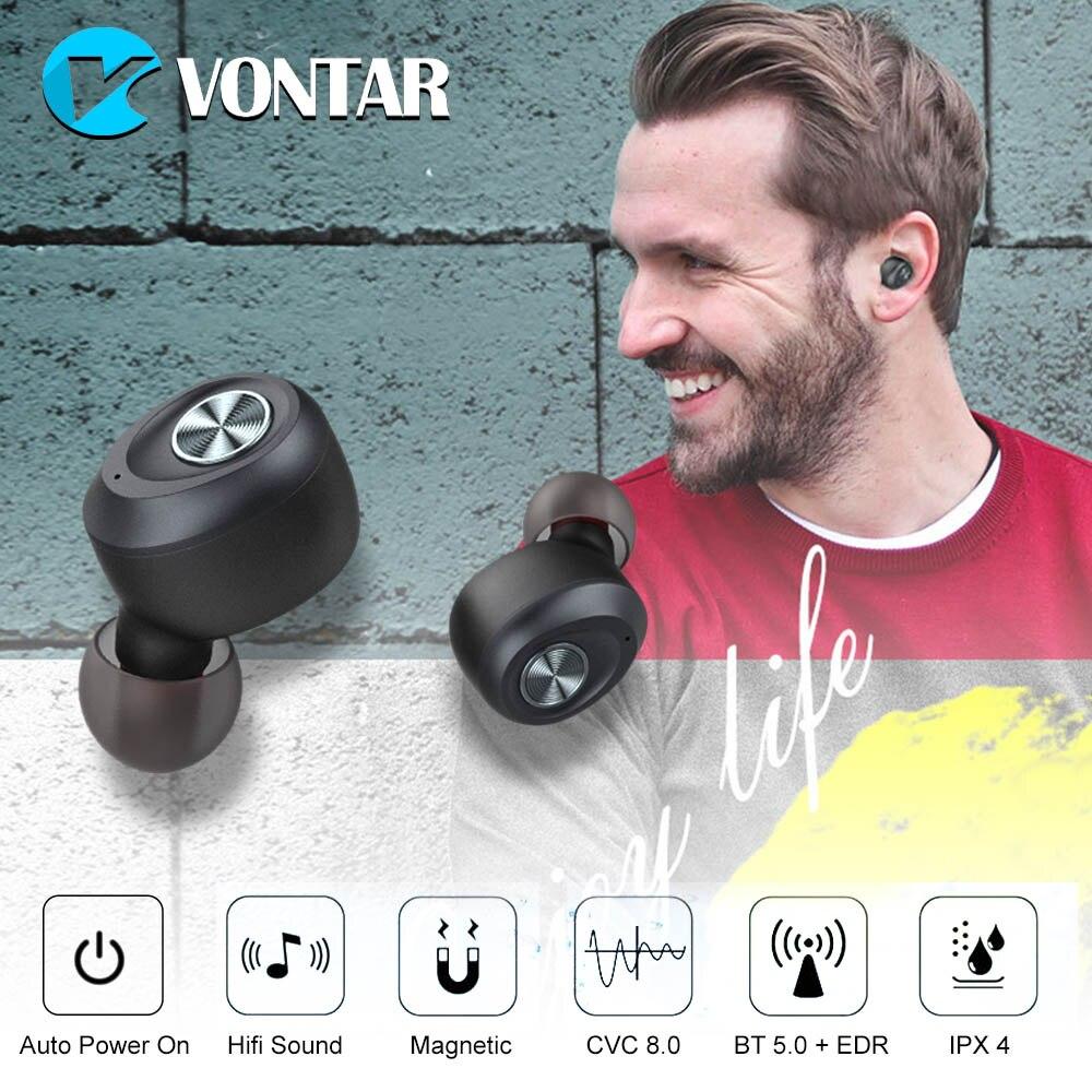 IP010-A Binaural Call Bluetooth V5.0 Drahtlose Kopfhörer Noise Stornieren Unsichtbare TWS Headsets Auto Paar Sport Tragbare Ohrhörer