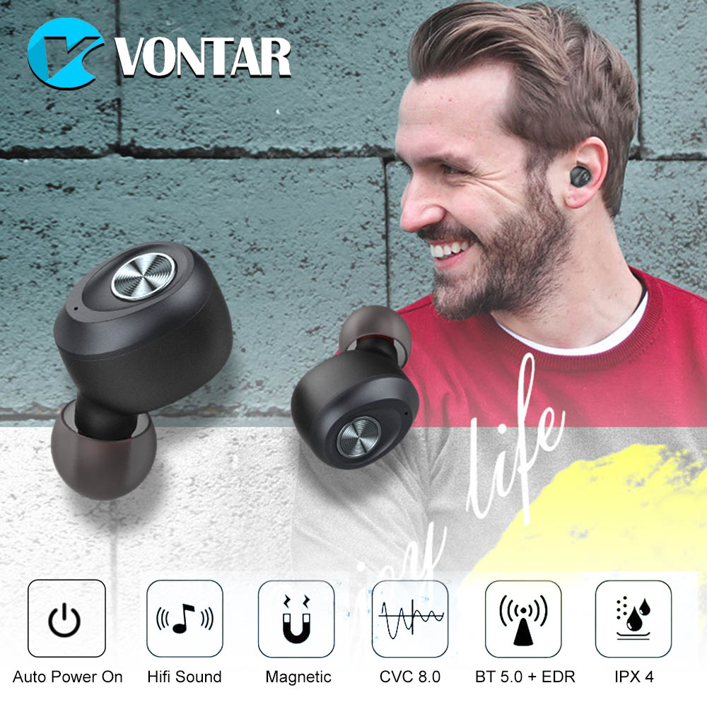 IP010-A Binaural llamada Bluetooth V5.0 auriculares inalámbricos ruido cancelar Invisible TWS auriculares par de Auto deportes portátil auriculares
