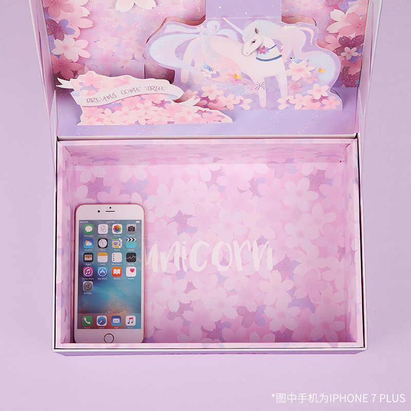 8733c22d9e6df Fashionable cartoon dream three-dimensional gift box cherry blossoms  wedding souvenir Ins box formal dress Large gift box