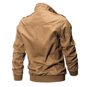 Image 4 - KOSMO MASA Bomber Jacket Men Autumn Winter 2018 Military Mens Jackets And Coats Black Windbreaker Jacket for Men Outwear MJ0074