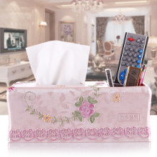 Fashion tissue box multifunctional pumping paper storage desktop remote control resin