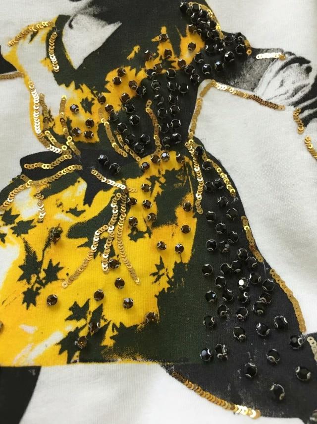 Mujeres Imprimir Top Juego Picture As Manga Hip Camiseta Caliente Las De 2019 Cordón Hop Corta Casual Lentejuelas Camisa Venta T XqTZpB