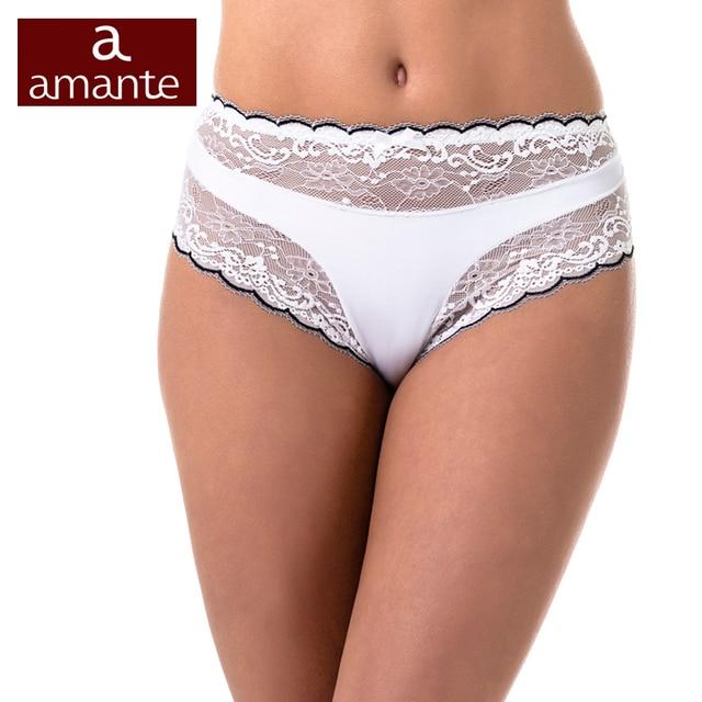 Briefs Women's High Waist Lace Briefs White Black Plus Size Panties L XL XXL ARDI Amante Free Delivery N2002-24