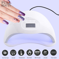 48W UV Lamp LED Nail Lamp For All Gel Dryer Sun Light Smart Sensing 15s Timer Nail Art Curing Machine Lamp Manicure CHSUN5Plus
