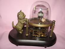 Бесплатная доставка Редкие работает замечательный рыба-пот стекло машины часы с милый кот 7.5 # медные инструменты Свадебные украшения латунь
