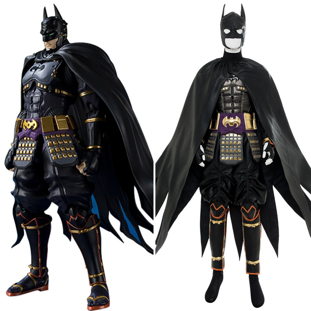2018 Movie Batman Cosplay Ninja Batman Costume Adult Outfit Cape Full Suits Halloween Cosplay Costume Action Figure Version