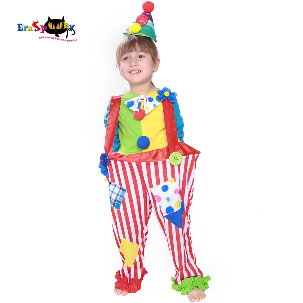 5cd69779 Carnival Party Costumes Funny Girls Halloween Costume For Kids Cute Circus  Clown Jumpsuit Fancy Dress Toddler