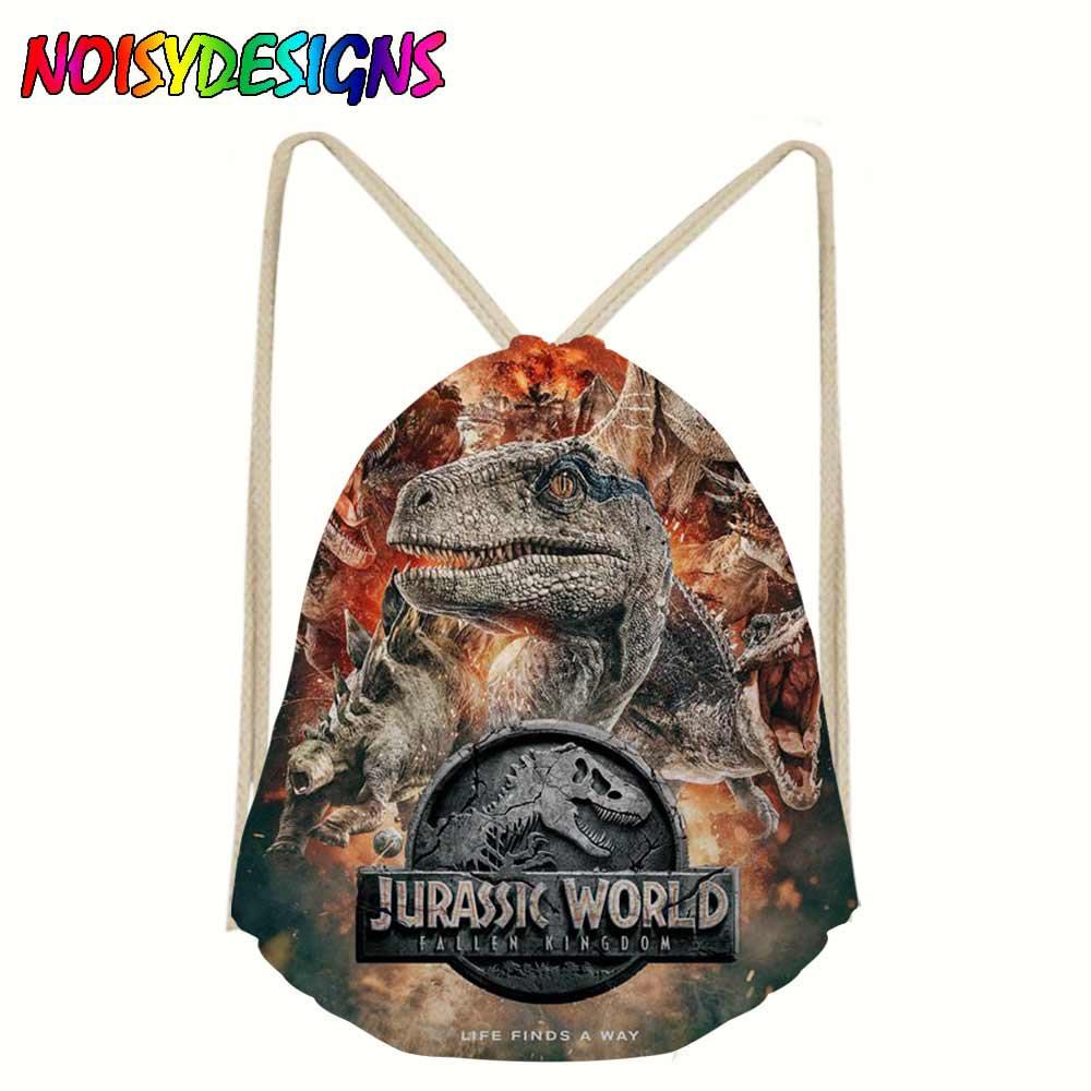 Jurassic Park world 2 Drawstring Bags for Teenager Boys Girls Children Bookbag Students Animals Backpack bagpack