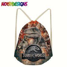 Jurassic Park world 2 Drawstring Bags for Teenager Boys Girls Children Bookbag Students Animals Backpack bagpack School Supplies