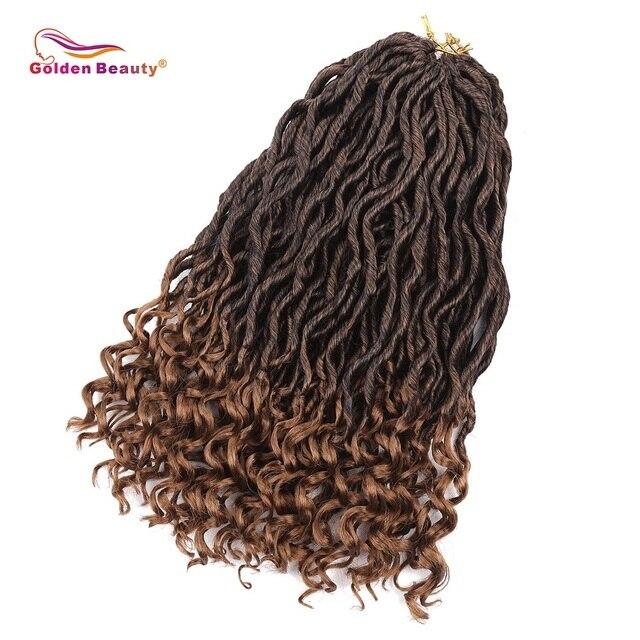 Golden Beauty 18'' Crochet Braids Synthetic Goddess Locs