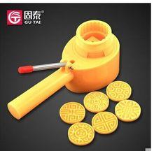 Wholesale,free shipping,25g 50g 63g 75g 100g 125g cartoon hand pressing round /square yellow/white/pink mooncake mold + motif