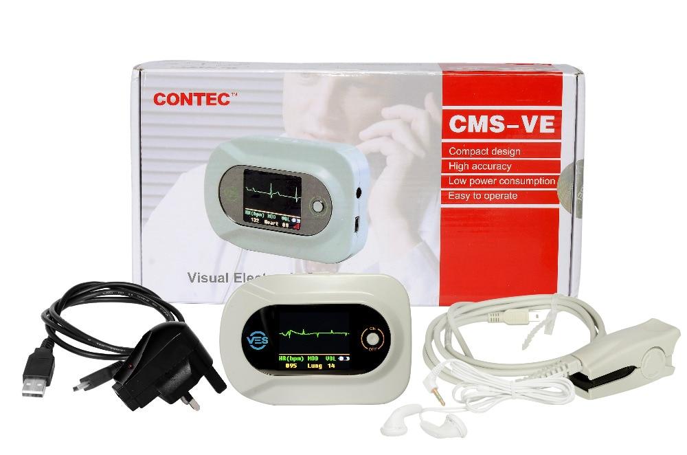 CONTEC CMS-VE Visual Digital Stethoscope ECG SPO2 PR Electronic Diagnostic