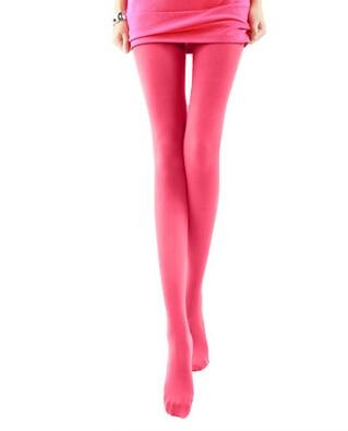 BIVIGAOS модные сексуальные Kawaii милые 120D бархатные бесшовные колготки ярких цветов колготки непрозрачные женские 18 цветов Сексуальные чулки - Цвет: Watermelon red