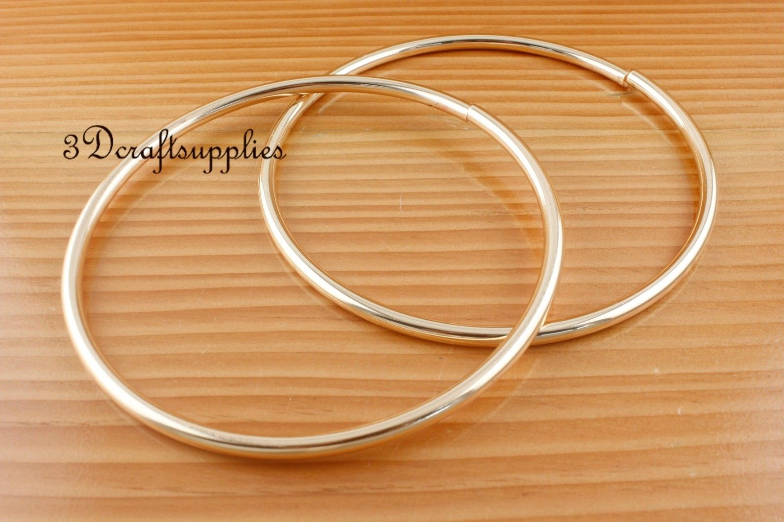 metal purse handle O rings Circle ring iron light gold 5 inch a pair ...