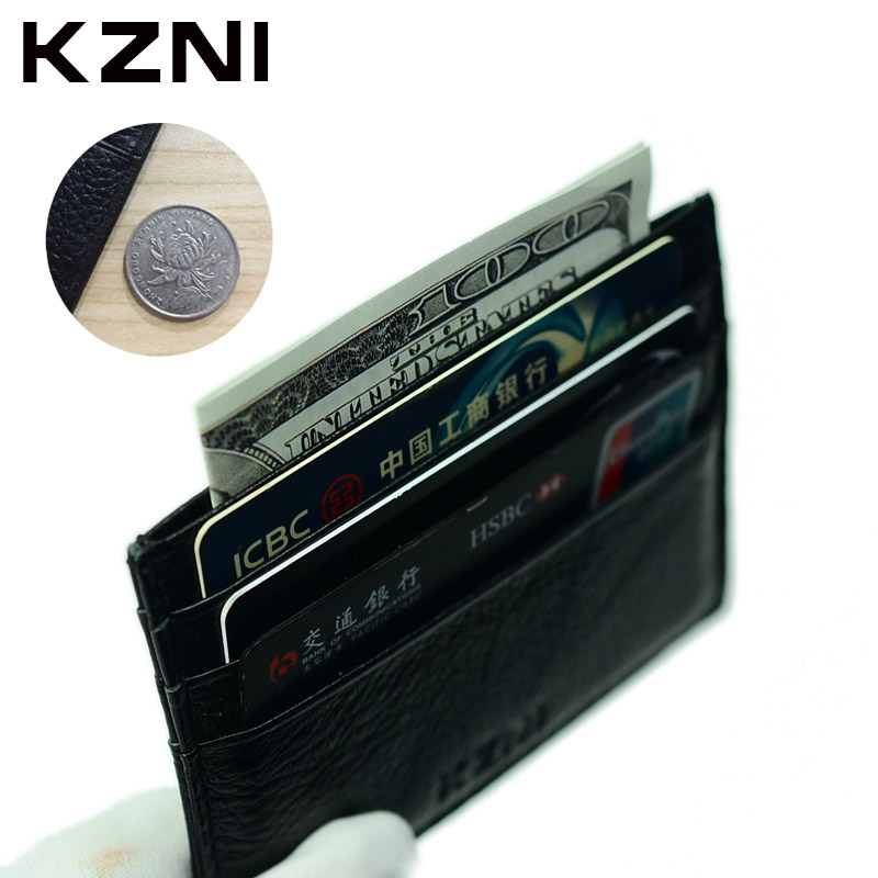 KZNI Luxury Wallet For Credit Cards Cash Handmade Leather