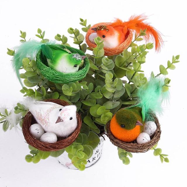 Christmas Decoration Bird Nest Decorative Mini Bird ...