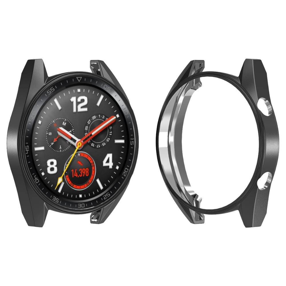 Huawei Watch GT Case For Huawei Watch Gt Strap Cover Soft TPU Plated All-Around Protective Case Shell Smartwatch Accessories M25