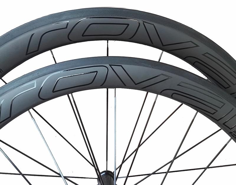 Meilleur prix largeur 25mm chinois oem logo personnalisé autocollant carbone route vélo pneu roues 50mm