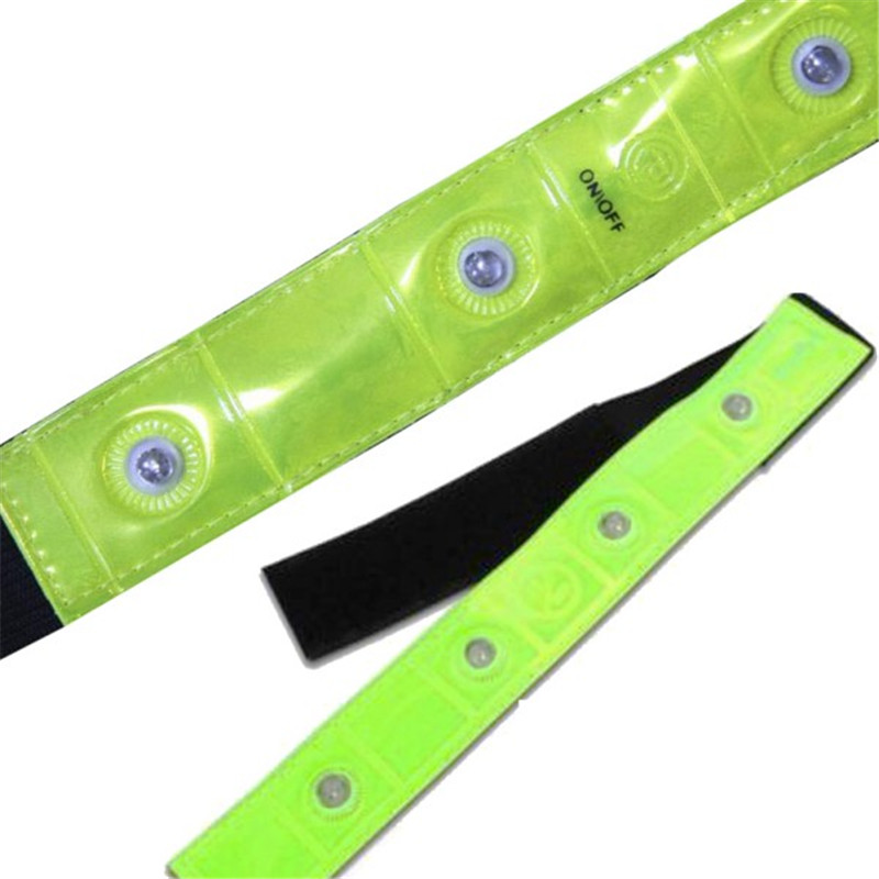 Warmers Led-Lights Armband Red Cycling Reflective Running Walking-Arm Outdoor Yellow