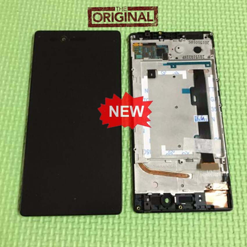 Best Working Original LCD Display Touch Screen Digitzer Assembly+Frame For Lenovo VIBE Shot MAX Z90 z90a40 z90-7 Replacement vibe x2 lcd display touch screen panel with frame digitizer accessories for lenovo vibe x2 smartphone white free shipping track
