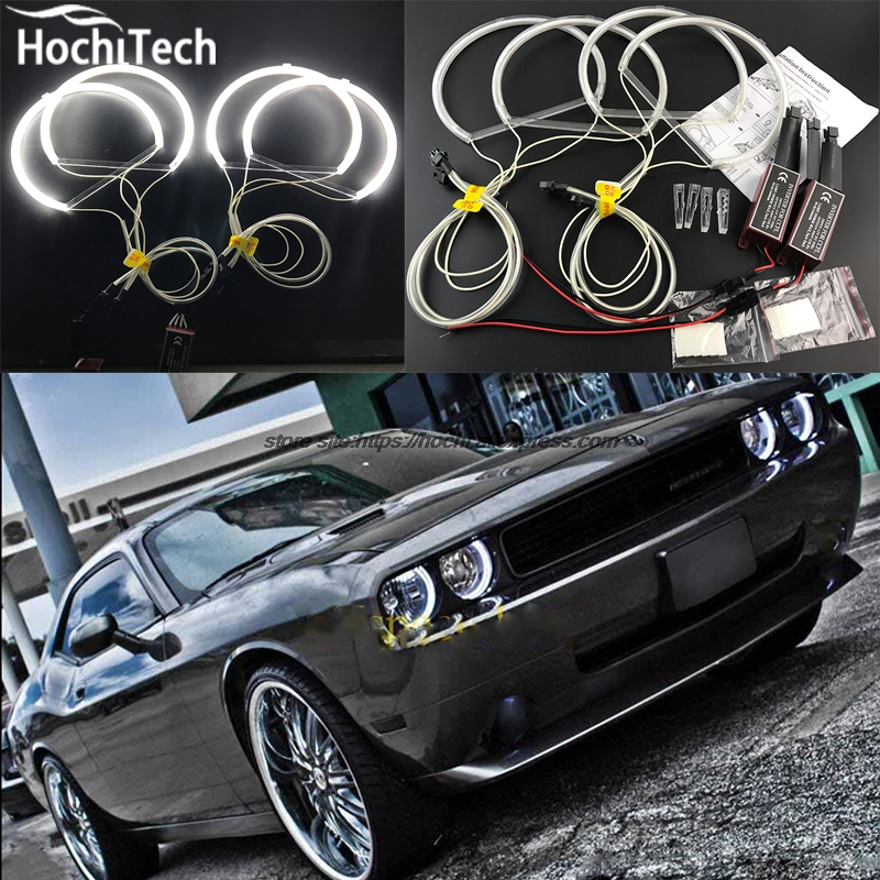 HochiTech Excellent CCFL Angel Eyes Kit Ultra bright headlight illumination for Dodge challenger 2008 2009 2010 2011 2012-2014 for mazda 3 mazda3 bl sp25 mps 2009 2010 2011 2012 2013 excellent ultra bright illumination ccfl angel eyes kit