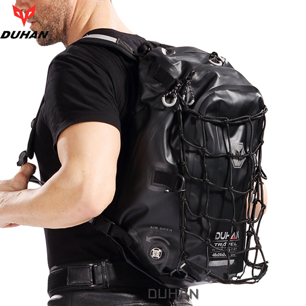 Duhan motorcycle backpack waterproof helmet bag original authentic rider moto black package tank bag moto luggage shoulder bag duhan motorcycle waterproof saddle bags riding travel luggage moto racing tool tail bags black multifunction side bag 1 pair