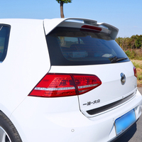 For MK7 Golf 7 Rline Spoiler ABS Material Car Rear Wing Primer Color VW Golf Rear Spoiler For Volkswagen Golf Spoiler 2014