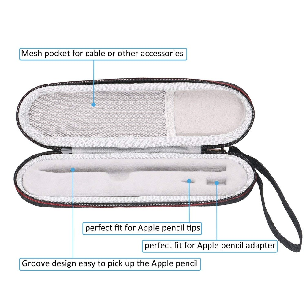 LTGEM чехол для хранения путешествий для Apple iPad Pro Карандаш/адаптер Жесткий чехол для переноски