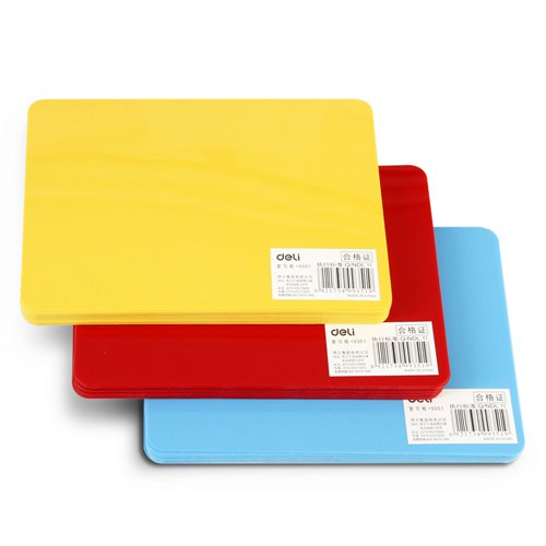 Deli 9351 Mimeo Plate Small Mimeo Plastic Plate 174x123mm PP Cutting Mat