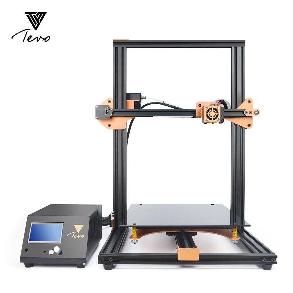 2018 TEVO Tornade 3D Imprimantes Zone D'impression Grand 3D Imprimante Kit Assemblé Entièrement En Aluminium Cadre 3d imprimante pièces & SD carte Usb