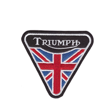 ФОТО new products on the shelves triumph british vintage motorcycle biker shirt jacket cap classic iron on patch
