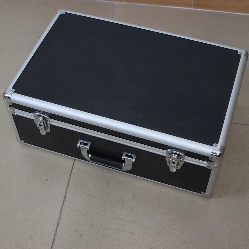 Box Aluminium Tool Case Magic Props File Storage Hard Carry Carrying Box Tool For Hand Gun Locking Pistol Internal 54*34*19.5CM