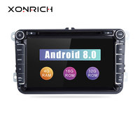 AutoRadio 2 din Android 8.0 Car DVD Player For Volkswagen Passat b6 VW PoloT5 Skoda Octavia 2 3 seat leon 2 golf 5 6 Multimedia